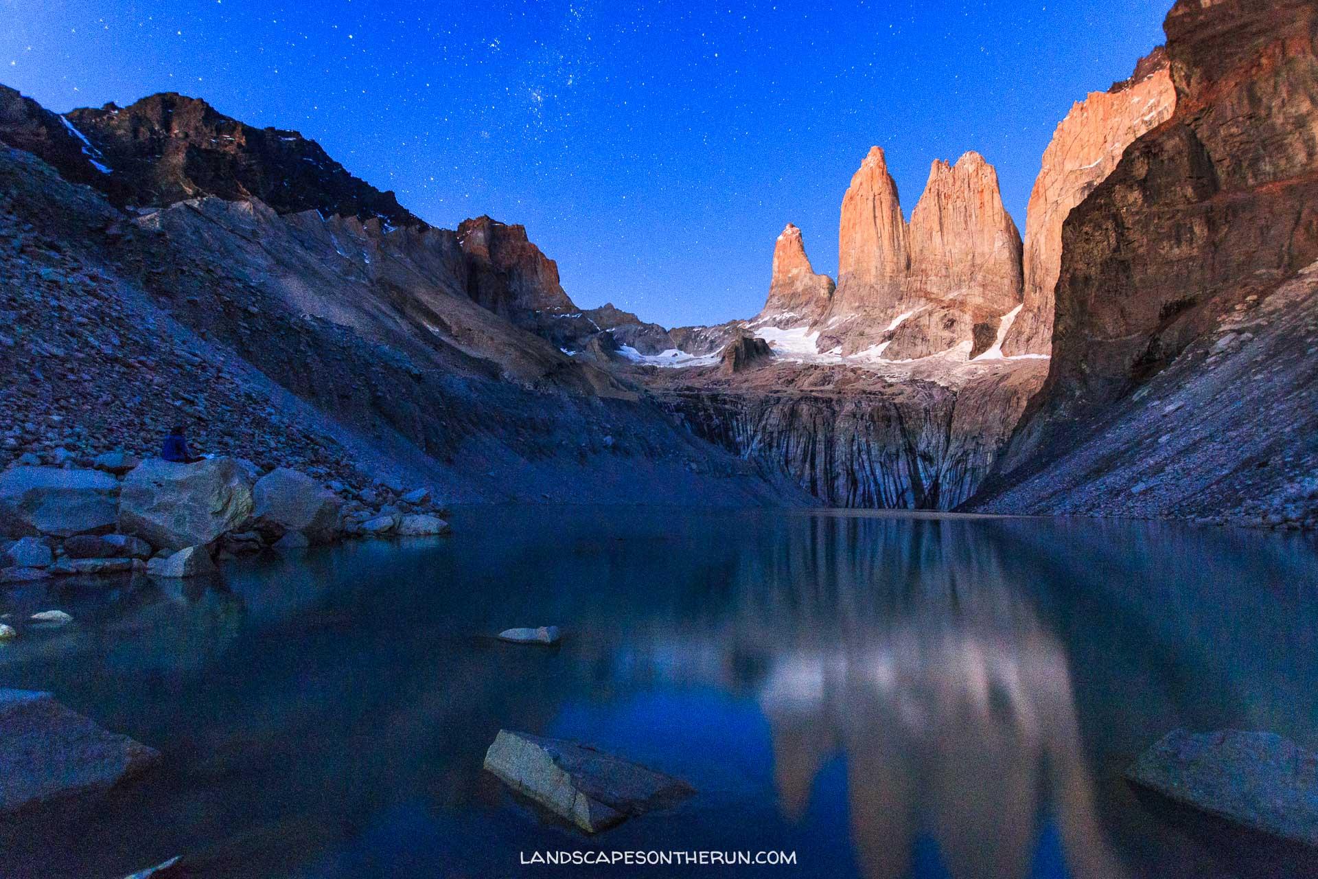Torres Del Paine Sunrise and Stars