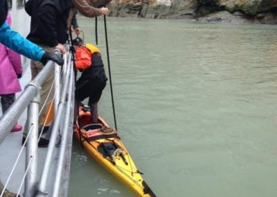 Tracy Arm Unloading Kayak Adventurebound