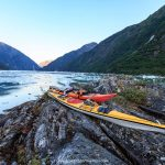 Kayaking in Tracy Arm Fjord