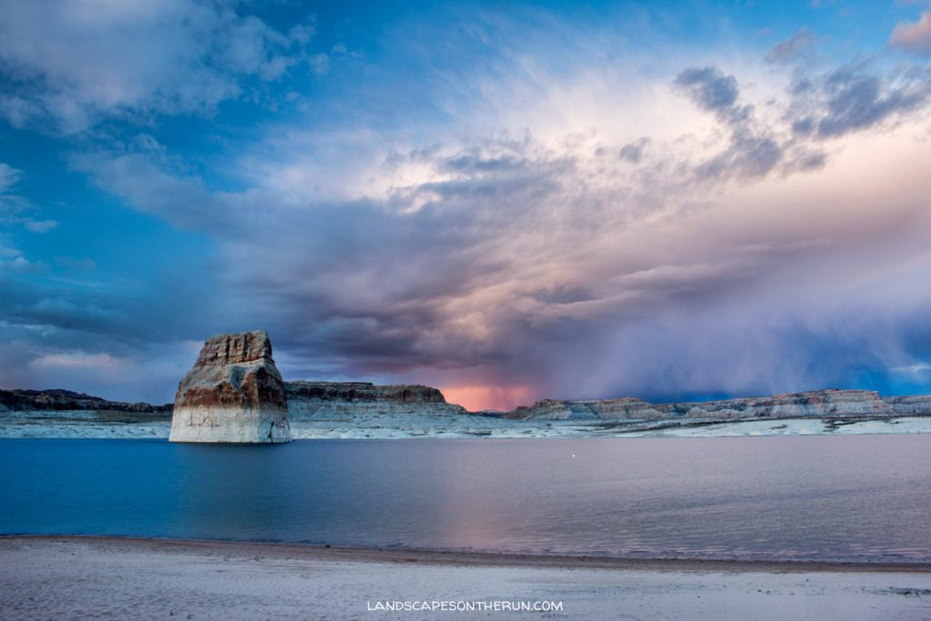 Lone Rock Sunset & Storm, Lake Powell